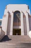 战争纪念建筑入口在悉尼 免版税图库摄影