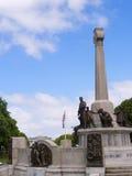 战争纪念建筑在口岸阳光式样村庄,创造由他的肥皂厂工作者的威廉Hesketh杠杆 免版税图库摄影