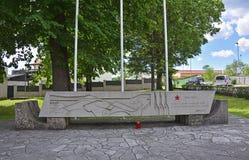 战争纪念建筑在Divaca 免版税图库摄影