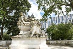 战争纪念建筑杜塞尔多夫 免版税库存照片