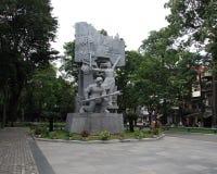 战争纪念建筑雕象在公园,河内 库存照片