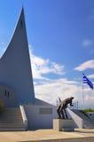 战争纪念建筑-纪念碑Ypsoma 731,希腊 免版税库存图片