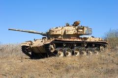 战争老坦克  免版税库存照片