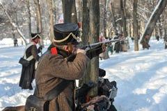 战争1812 冬天竞选 免版税图库摄影