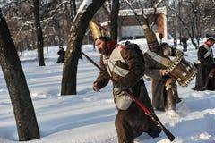 战争1812 冬天竞选 免版税库存照片