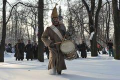 战争1812 冬天竞选 库存图片