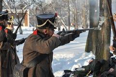 战争1812 冬天竞选 免版税库存图片