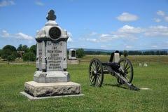 战场gettysburg宾夕法尼亚 库存图片