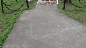 战士万人冢在巨大爱国中丧生 莫斯科,村庄Uzkoe 射击日期7可以2017年 全景与 股票录像