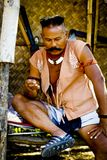 [战士人泰国]轰隆镭的战士的古老战士人 免版税库存照片