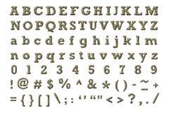 战士伪装字母表 免版税库存照片