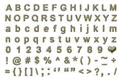 战士伪装字母表 免版税库存图片