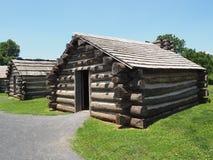战士使用的被重建的福奇谷小屋 库存照片