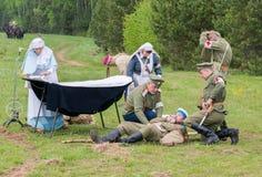 战士受伤 免版税库存图片