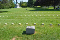战士国家公墓葛底斯堡 免版税库存图片
