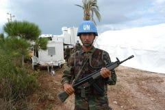 战士土耳其联合国 库存图片