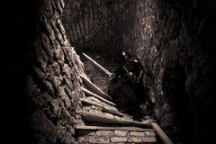 战士在被忘记的地方 免版税库存照片