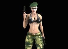 战士女孩 图库摄影