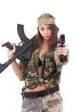 战士妇女年轻人 免版税库存图片