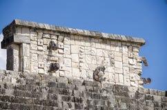战士寺庙的细节在奇琴伊察的,世界的奇迹 库存照片