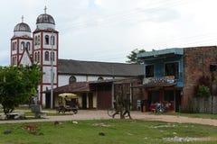 战士巡逻La的Macarena城市 库存图片