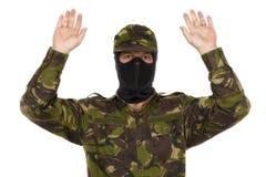 战士投降 免版税库存图片