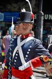 战士服装游行的人 库存图片