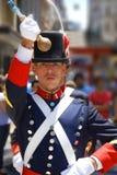 战士服装的人 免版税库存图片