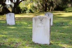 战士的公墓墓石 库存图片