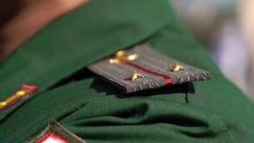 战士的军事肩章 影视素材