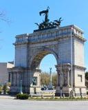 战士的和水手的曲拱-纽约 库存照片