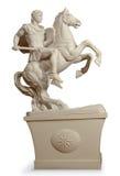 战士的希腊雕象 库存照片