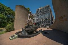 战士的纪念碑在布宜诺斯艾利斯 免版税库存照片