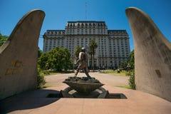 战士的纪念碑在布宜诺斯艾利斯 免版税库存图片