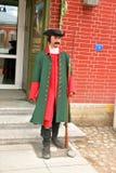 战士的蜡雕象 免版税库存照片