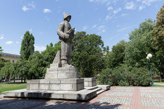 战士的雕塑在华沙 免版税图库摄影