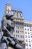 战士的雕象 免版税库存图片