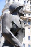 战士的雕象 免版税库存照片