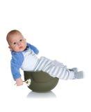 战士盔甲的婴孩 库存图片