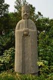战士石雕象-宋朝坟茔,中国 免版税库存图片