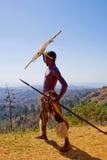 战士祖鲁族人 免版税库存照片