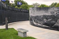 战士纪念领域的退伍军人 库存照片