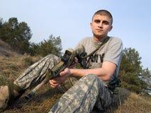 战士美国 库存照片