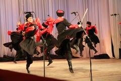 战士舞蹈  免版税库存照片