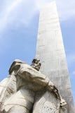 战士荣耀纪念复合体的主要纪念碑  免版税库存照片