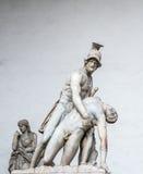 战士雕象佛罗伦萨 免版税库存图片