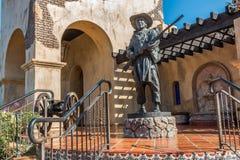 战士雕象摩门教营站点的在圣地亚哥 免版税库存图片