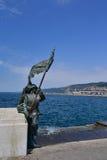 战士雕象的里雅斯特,意大利 免版税图库摄影
