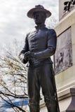 战士雕象谢尔曼南北战争纪念将军华盛顿特区 库存图片