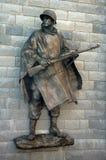 战士雕象 库存照片